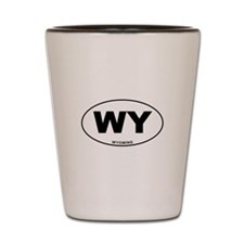 Wyoming State Shot Glass