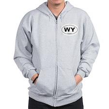 Wyoming State Zip Hoody
