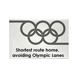 Olympic Lanes! Rectangle Magnet