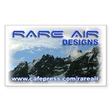 Rare Air Designs Logo - Rectangle Decal