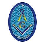 Masonic A widow's son Oval Ornament
