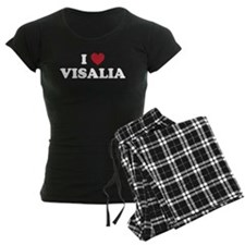 I Love Visalia California Pajamas