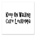 leukemia19.png Square Car Magnet 3