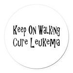 leukemia19.png Round Car Magnet