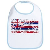 Hawaiian Floral Flag Bib
