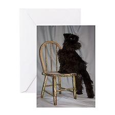 Black Miniature Schnauzer Puppy Greeting Card