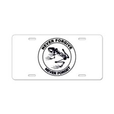 Desert Frog - Never Forgive Aluminum License Plate