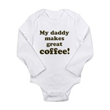 Cute Coffee Long Sleeve Infant Bodysuit
