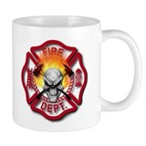 Maltese Cross and Flaming Skull Mug
