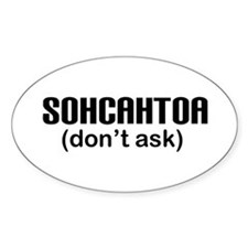 SOHCAHTOA Oval Decal