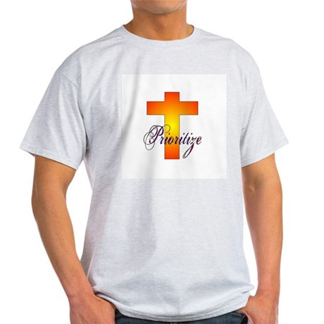 Prioritize Cross Ash Grey T-Shirt