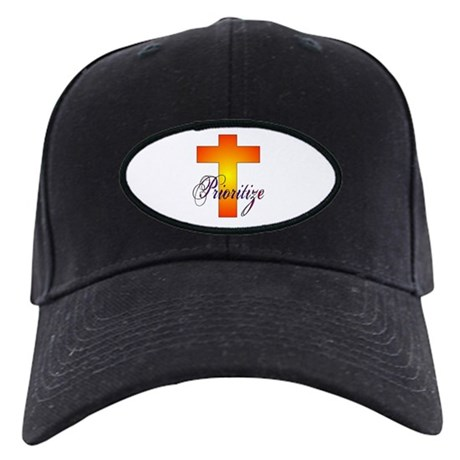 Prioritize Cross Black Cap