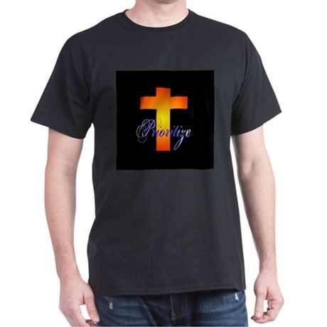 Prioritize Cross Black T-Shirt