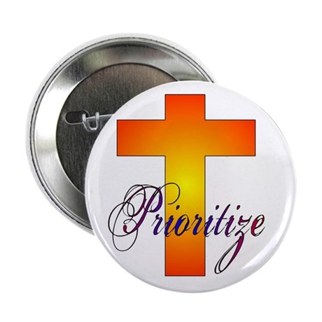 "Prioritize Cross 2.25"" Button (10 pack)"