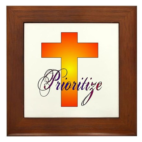 Prioritize Cross Framed Tile