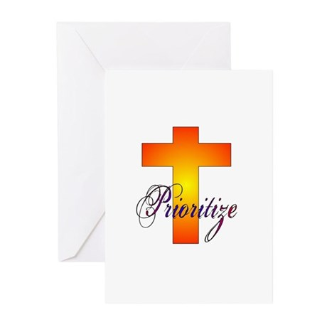 Prioritize Cross Greeting Cards (Pk of 10)