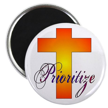 "Prioritize Cross 2.25"" Magnet (100 pack)"