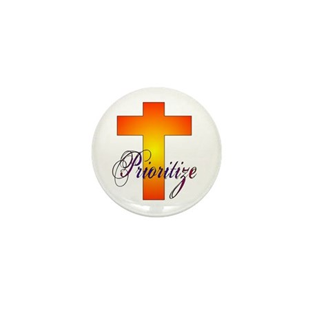 Prioritize Cross Mini Button (10 pack)