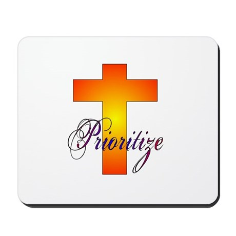 Prioritize Cross Mousepad
