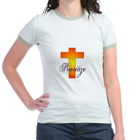 Prioritize Cross Jr. Ringer T-Shirt
