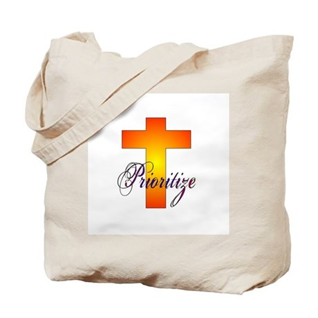 Prioritize Cross Tote Bag