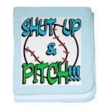 Shut Up & Pitch baby blanket