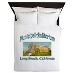 Long Beach Municipal Auditorium Queen Duvet