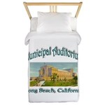 Long Beach Municipal Auditorium Twin Duvet