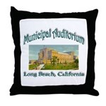 Long Beach Municipal Auditorium Throw Pillow