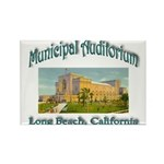 Long Beach Municipal Auditorium Rectangle Magnet (