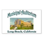Long Beach Municipal Aud Sticker (Rectangle 10 pk)