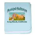 Long Beach Municipal Auditorium baby blanket