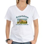 Long Beach Municipal Auditorium Women's V-Neck T-S