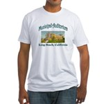 Long Beach Municipal Auditorium Fitted T-Shirt