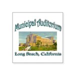 Long Beach Municipal Audito Square Sticker 3