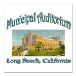 Long Beach Municipal Aud Square Car Magnet 3