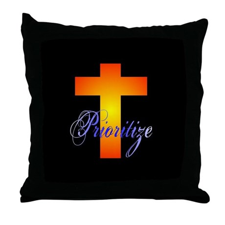 Prioritize Cross Throw Pillow