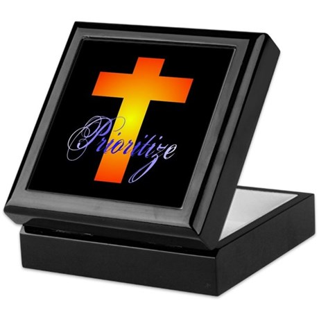 Prioritize Cross Keepsake Box