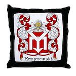 Krzyczewski Coat of Arms Throw Pillow