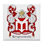 Krzyczewski Coat of Arms Tile Coaster