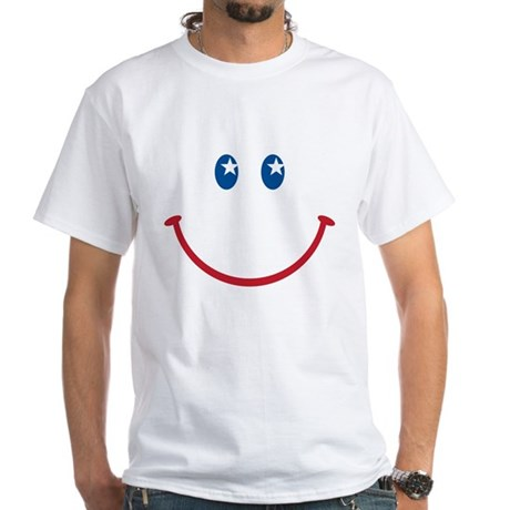Smiley Face USA: White T-Shirt