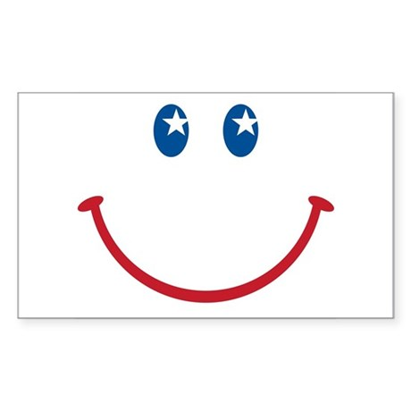 Smiley Face USA: Rectangle Sticker