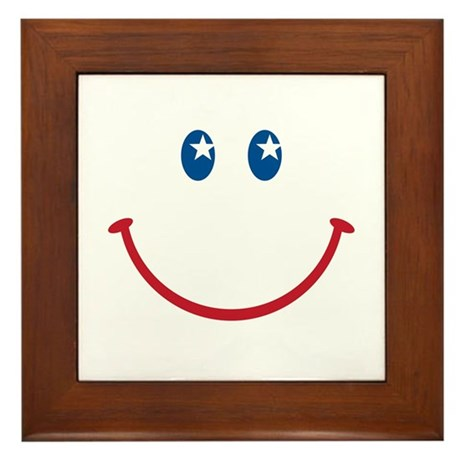 Smiley Face USA: Framed Tile