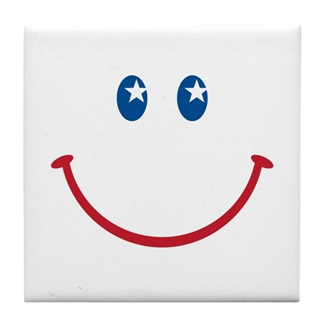 Smiley Face USA: Tile Coaster