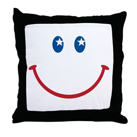 Smiley Face USA: Throw Pillow