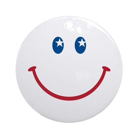Smiley Face USA: Ornament (Round)