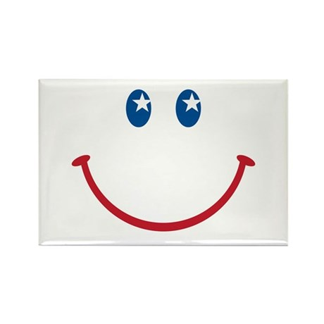 Smiley Face USA: Rectangle Magnet (10 pack)