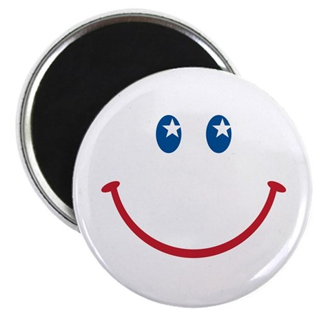 "Smiley Face USA: 2.25"" Magnet (100 pack)"