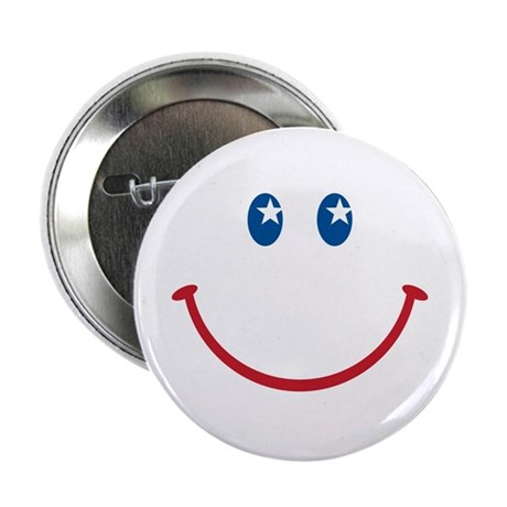 "Smiley Face USA: 2.25"" Button (10 pack)"