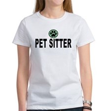 Pet Sitter Green Stripes Tee
